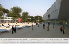 Prêmio Secil Universidades – Arquitetura: Centro Multifuncional e Residência de Estudantes  / Simão Silveira Botelho,Praça