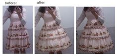 Before and after petticoats