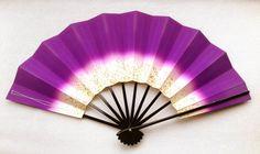 Hand Fan @Etsy https://www.etsy.com/listing/190661782/japanese-dance-fan-mai-ogi-purple-ombre #Japan #culture #vintage #art #etsy