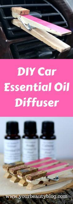 DIY Essential Oil Diffuser for the Car #essentialoils #diffuser #craft