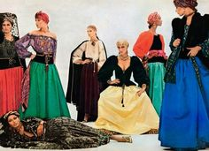 1976-77 - Yves Saint Laurent Couture 'Ballets Russes' collection photographed by American Vogue