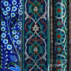 Arabesque Blue Series-1 (Print) by Saiyyidah Seema Zaidee