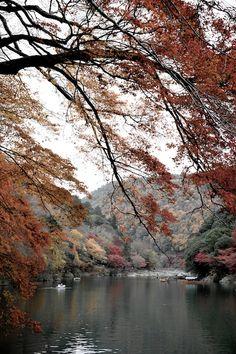 Hozu River and boat #Japan #Kyoto