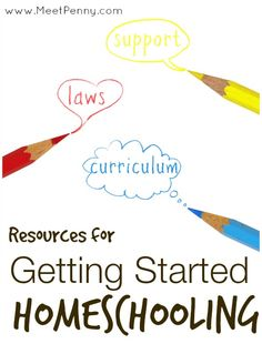 Extensive list of resources for when you are getting started homeschooling. Includes a link up of homeschool blogs.