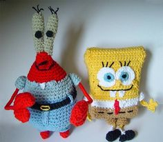 Fuente: http://meekssandygirl.deviantart.com/art/crochet-Spongebob-and-Mr-Krabs-123790463