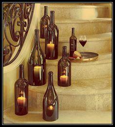 Decoração com garrafas de vinho | Nadima Chalup