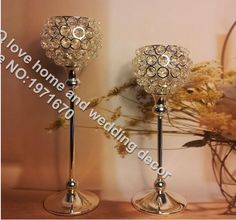2pcs 30cm metal silver plated candle holder with crystals wedding candelabra/centerpiece decoration candlestick *** Want to know more, click on the image. #Candleholders