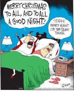 The Flying McCoys by Glenn and Gary McCoy ~ Christmas Humor ~ Santa & Mrs. Xmas Jokes, Christmas Jokes, Christmas Cartoons, Merry Christmas To All, Christmas Doodles, Cartoon Jokes, Funny Cartoons, Funny Comics, Funny Xmas