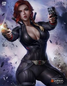 Black Widow, Logan Cure on ArtStation at https://www.artstation.com/artwork/8lZvBw