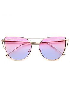 Cheap Designer Inspired Sunglasses | LovePunch Designer Inspired Flat Lens Split Tint Sunglasses | BleuDame.com Cat Eye Sunglasses, Mirrored Sunglasses, Cheap Designer, Sunglass Frames, Lenses, Dog Cat, Design Inspiration, Flats, Blind