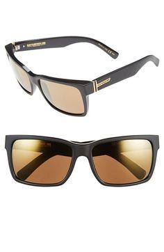 Women's Von Zipper 'Elmore' 61mm Rectangular Sunglasses - Black Satin