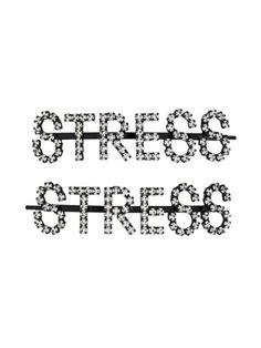 Ashley Williams Stress Hair Clips In Black Designer Headbands, Ashley Williams, New Sign, Headband Hairstyles, World Of Fashion, Hair Clips, Stress, Hair Accessories, Black