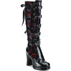 - Heel Platform Goth Punk Lolita Corseted 5 Buckle Knee Boot - full inner side zipper - TRUE TO SIZE - Black Widow Gothic Boots. The Black Widow Gothic Boots Crazy Shoes, Me Too Shoes, Dream Shoes, Sexy Stiefel, Gothic Boots, Gothic Mode, Gothic Lolita, Lolita Style, Victorian Goth