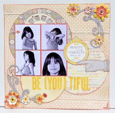 Be(you)tiful Layout by Authentique Paper Design Team Member Loes de Groot