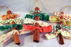 Adornos para el árbol de navidad con olor a canela