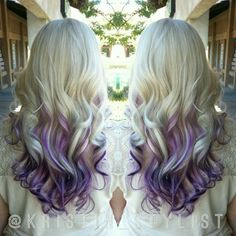 Blonde with purple balayage hair colors dyed hair, balayage Hair Color And Cut, Ombre Hair Color, New Hair Colors, Purple Hair, Purple Ombre, Purple Balayage, Balayage Ombré, Balayage Hair Blonde, Haircolor