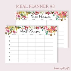 Weekly Meal Planner Printable, Meal Planning, Menu Plan, Menu Planning, Planner A3, Meal Planner Printable, Weekly Meal Planner, Printables, Family Planner, Clean Design, Meals For The Week, Menu Planning, Lettering, How To Plan