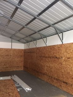Metal Building Insulation, Styrofoam Insulation, Garage Insulation, Fiberglass Insulation, Metal Garage Buildings, Steel Structure Buildings, Metal Garages, Metal And Wood Bench, Metal Shed