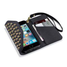 Köp Terrapin Mobilplånbok iPhone SE/5S/5 Nitar Svart online: http://www.phonelife.se/terrapin-mobilplanbok-iphone-se-5s-5-nitar-svart