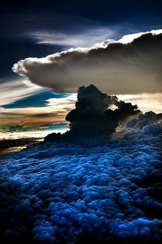 #Clouds 10,000 feet above the ground south of Manila, Philippines