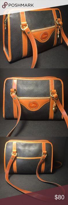 Dooney & Bourke Vintage Leather Handbag Dooney & Bourke Vintage All Weather Leather Handbag The Yellow Stitching Is Frayed A Little On The Emblem. Dooney & Bourke Bags Shoulder Bags