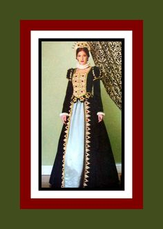 Long Live The Queen -Exquisite Renaissance Queen Court Gown -Costume Sewing Pattern- Size 14-20 -Uncut-OOP by FarfallaDesignStudio on Etsy