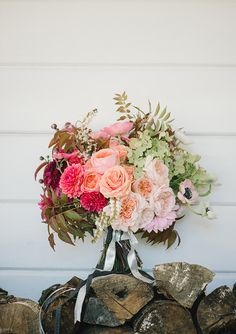 love the shape of this wedding bouquet
