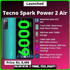 Tecno Spark Power 2 Air Launched In India: Check Price, Specification Bokeh Mode, All India News, Tecno, Dual Sim, Product Launch, Check