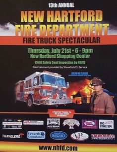 2016 Firetruck Spectacular New Hartford, NY Firetruck, Fire Department, Historical Society, Shopping Center, Thankful, Entertaining, Memories, Children, Memoirs