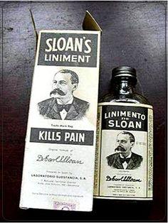 Linimento Sloan. El tío del bigote