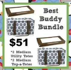 Medium Utility tote bundle
