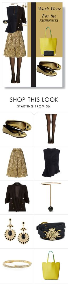 """""""Work wear for the fashionista"""" by momma2theking ❤ liked on Polyvore featuring Prada, River Island, STELLA McCARTNEY, Rachel Rachel Roy, Lisa Freede, Deux Lux and Kate Spade"""
