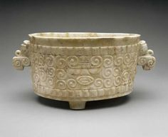 MFAH | Collections | Arts of Mexico, Central and South America, the Caribbean | Tripod Vase with Bird Handles