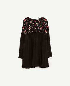 Image 8 of PLUMETIS EMBROIDERED DRESS from Zara