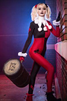 Dc Cosplay, Joker Cosplay, Cute Cosplay, Cosplay Girls, Cosplay Costumes, Halloween Costumes, Joker Y Harley Quinn, Harley Quinn Cosplay, Cosplay Mignon
