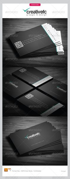 corporate business cards 344 - Business Cards Print Templates