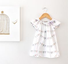 Baby Girls Peasant DressFrench Bunting FlagsSpecial by ChasingMini, $55.00