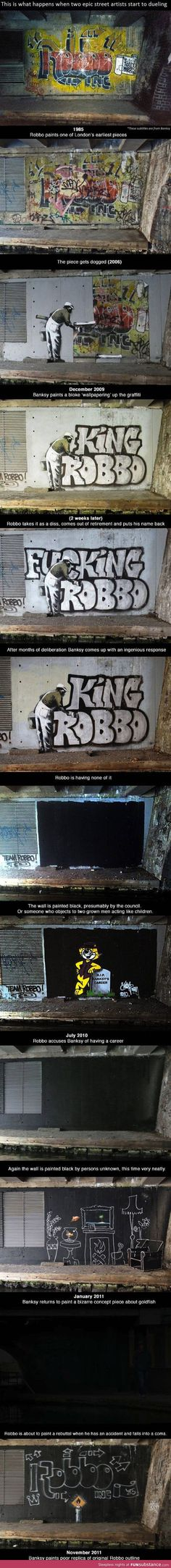 When Two Graffiti Artists Duel