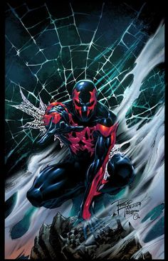 Spider-Man 2099 by Philip Tan, colours by Omi Remalante Jr. *