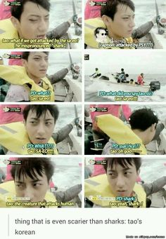 Thing scarier than sharks: Tao's english #shark #Tao #EXO #EXO-M