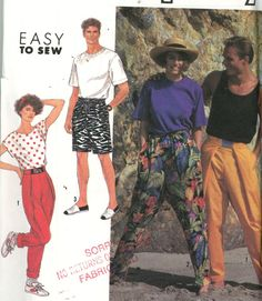 Simplicity 7183 Misses' Men's or Boys' Pants or Shorts Pattern - Size A - (XS - - Other
