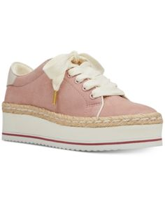 Nine West Evie Lace-Up Espadrille Sneakers - Pink