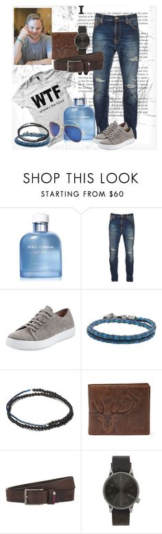 Outfits #3 by emil-d-grand on Polyvore featuring Nudie Jeans Co., Vince, Komono, FOSSIL, Ted Baker, Tod's, Dolce&Gabbana, men's fashion and menswear