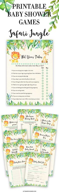 Looking for a Baby Shower theme for boys? Here's one of the baby shower ideas your guests will surely enjoy. Safari Jungle Baby Shower Games for Boys