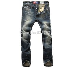 Find More Jeans Information about 2014 Casual Designer Ripped Jeans for Men Famous Brand Denim Straight Leg Pants calca jeans masculina pantalones vaqueros hombre,High Quality Jeans from Amazing Excellent on Aliexpress.com