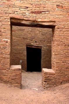 """7x10 matted to 11x14 Chaco Canyon, New Mexico II Photograph. These doors are in the Anasazi ruins of Pueblo Bonito at Chaco Canyon in New Mexico. Chaco Canyon was the centre of the Anazasi civilization about 1000 yrs ago. It was abandoned at about 1250AD. Until the late 1800s these were the tallest buildings in North America. 7""""x10"""" print in an off white 11""""x14"""" mat. This matted print will fit a standard size frame. This print is also available in other sizes with and without mats; if you..."""