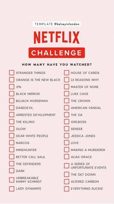 Netflix Challenge Instagram Story Template