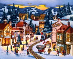 Christmas Village by Eric Dowdle