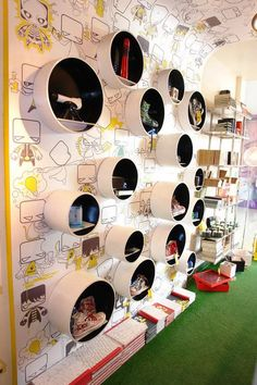 Love this retail wall for Play Clan in India. More images here...: