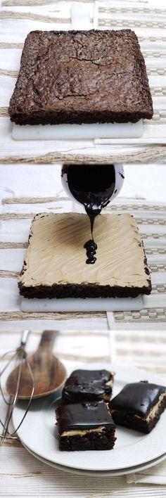 Coffee Cream Brownies #justdesserts
